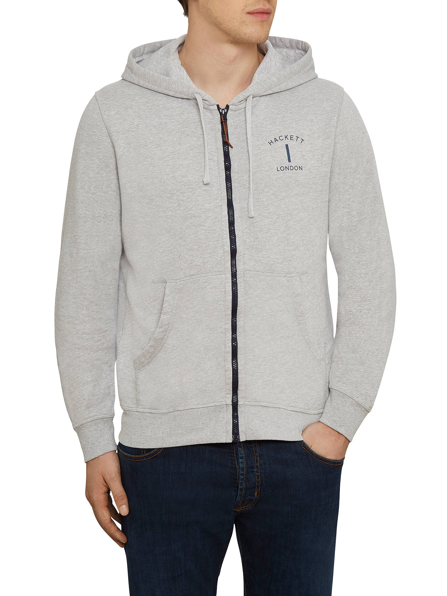 Buyhackett Hoodie Johnlewis Sleeve Light Online Long Marl Mr London S Classic At Grey rwaX6rB