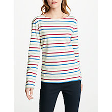Buy Seasalt Sailor Stripe T-Shirt, Breton Night Ecru Online at johnlewis.com