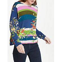 Buy Oui Floral Tropical Print Cotton Jumper, Multi Online at johnlewis.com