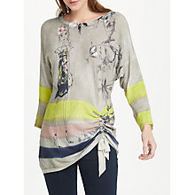 Buy Oui Lola Ruched Detail Jumper, Light Grey/Multi Online at johnlewis.com