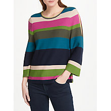 Buy Oui Cold Shoulder Stripe Jumper, Multi Online at johnlewis.com