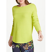 Buy Oui Ribbed Jumper, Lime Online at johnlewis.com