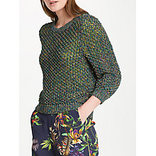 Buy Oui Space Dye Yarn Jumper, Khaki/Blue Online at johnlewis.com