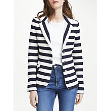 Buy Oui Stripe Cotton Blazer, Navy/White Online at johnlewis.com