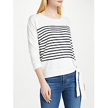 Buy Oui Striped Tie Jumper, Blue/White Online at johnlewis.com