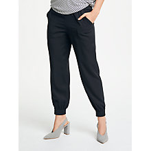 Buy Max Studio Cuff Hem Twill Trousers, Black Online at johnlewis.com