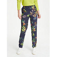 Buy Oui Tropical Print Jogger Trousers, Blue/Multi Online at johnlewis.com