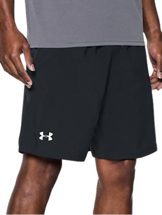 "Under Armour Launch SW 9"" Running Shorts, Black/Reflective Silver"