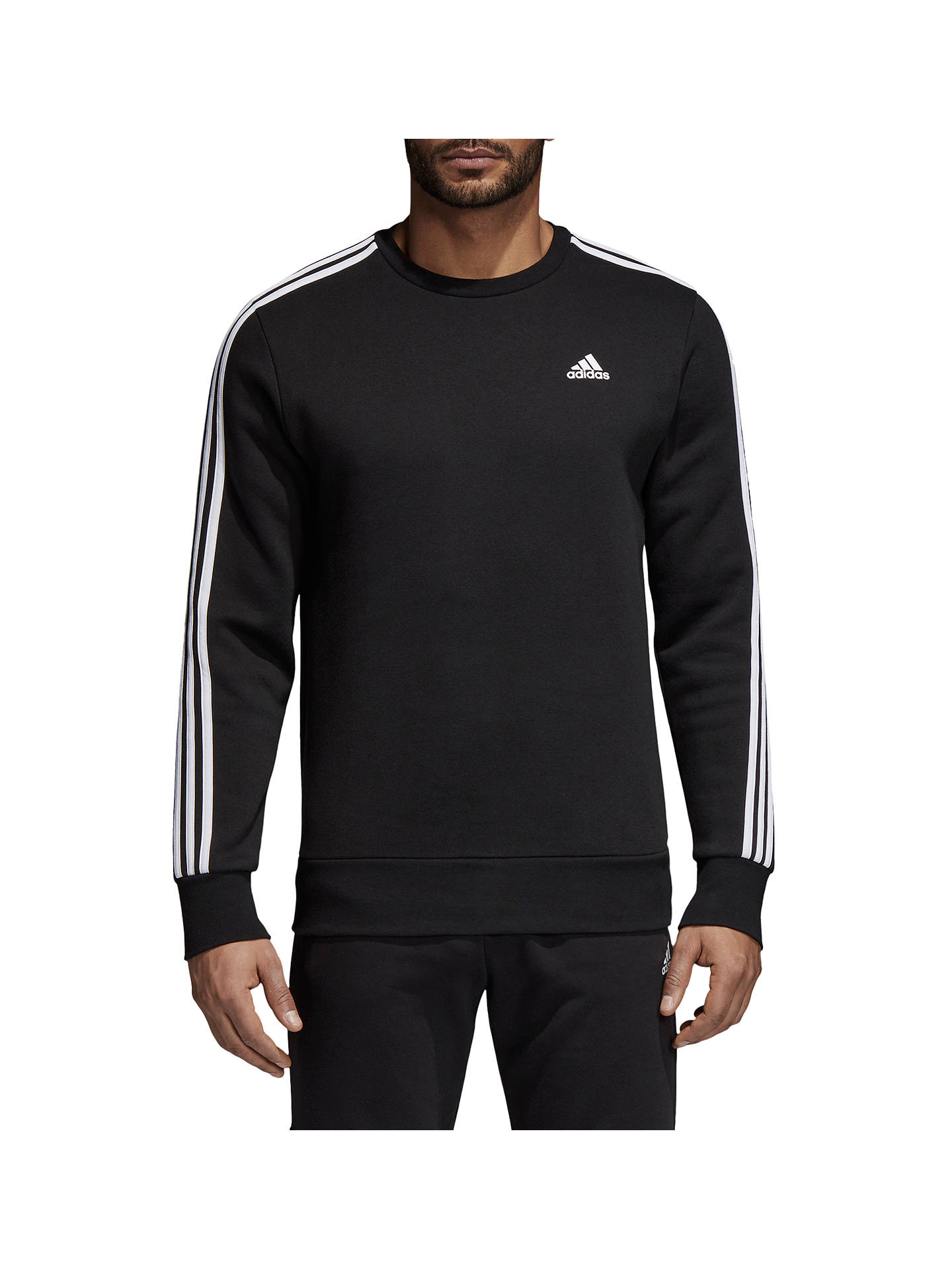 comunidad salchicha Influyente  adidas Essentials 3-Stripes Crew Sweatshirt at John Lewis & Partners