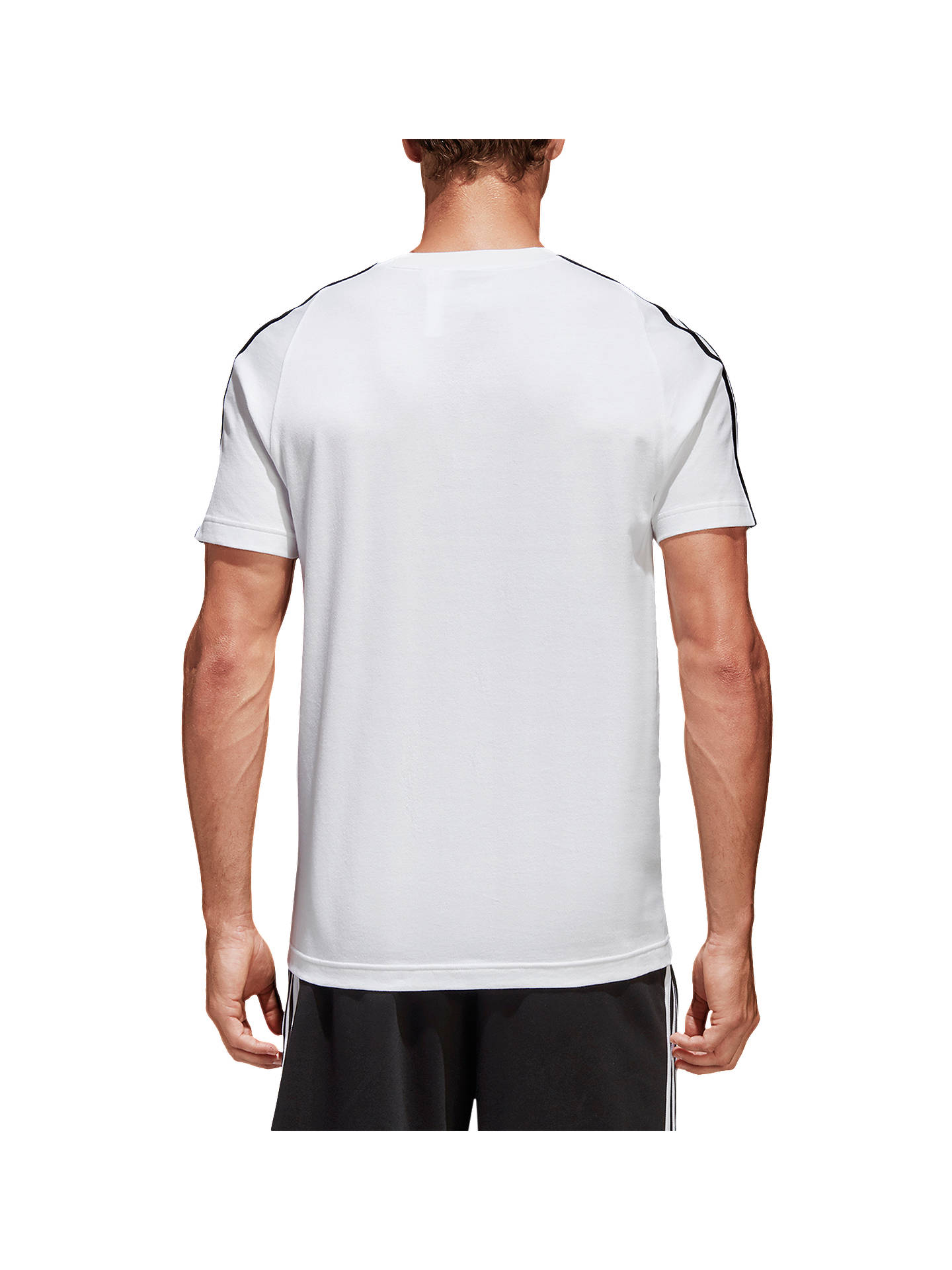 Buy adidas Essentials Classic T-Shirt, White, S Online at johnlewis.com