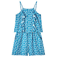 Buy John Lewis Girls' Daisy Playsuit, Teal Online at johnlewis.com
