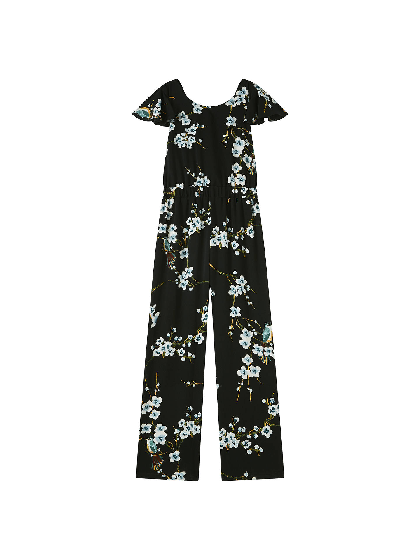 BuyJohn Lewis & Partners Girls' Floral Jumpsuit, Black, 12 years Online at johnlewis.com