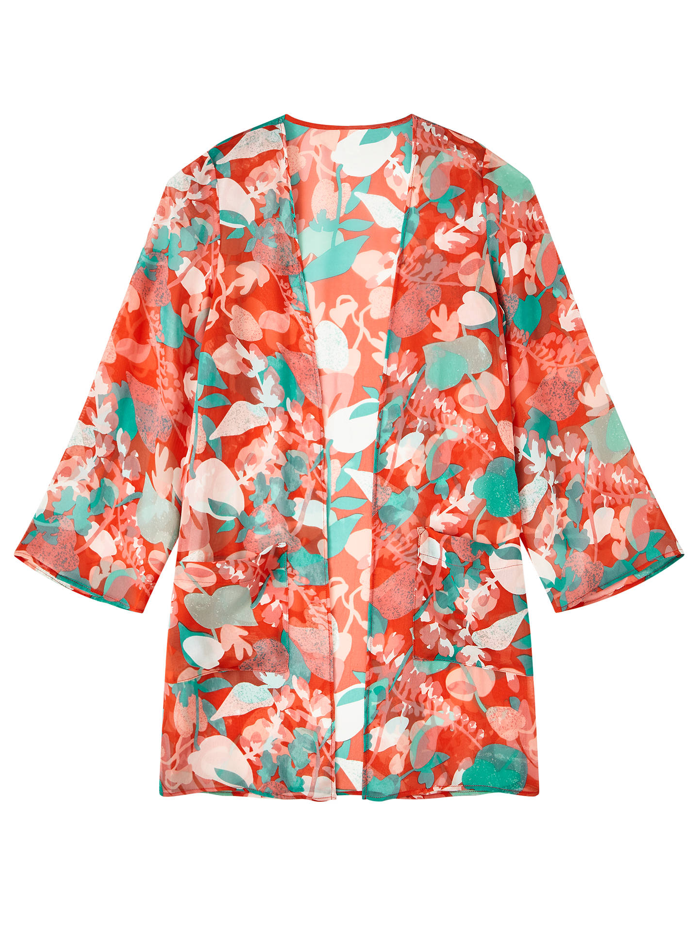 Buy John Lewis & Partners Girls' Floral Kimono Jacket Top, Multi, 14 years Online at johnlewis.com