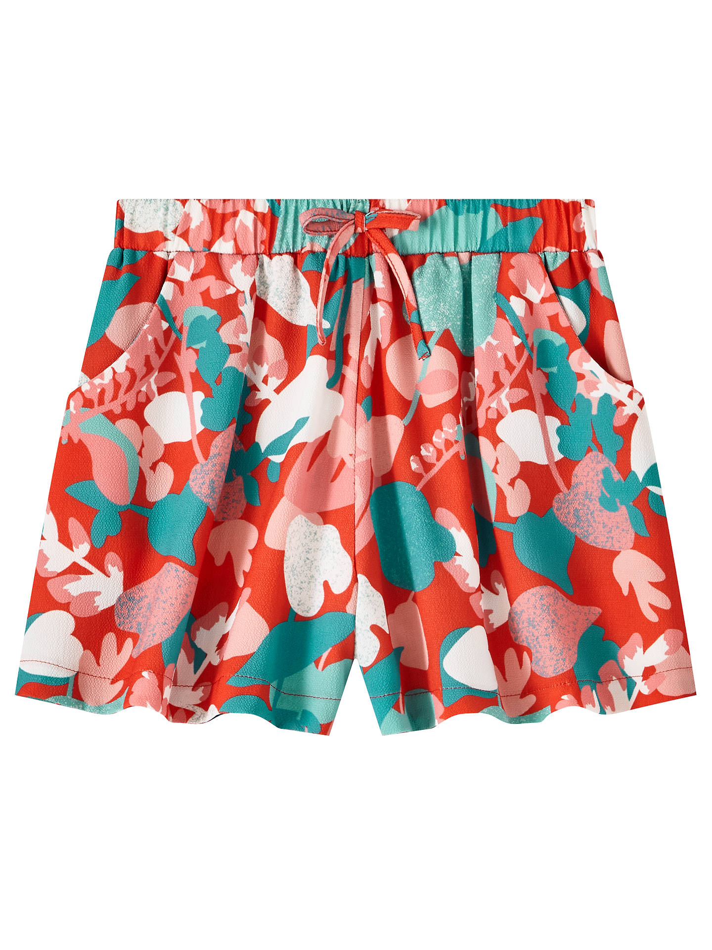 Buy John Lewis & Partners Girls' Floral Shorts, Multi, 8 years Online at johnlewis.com