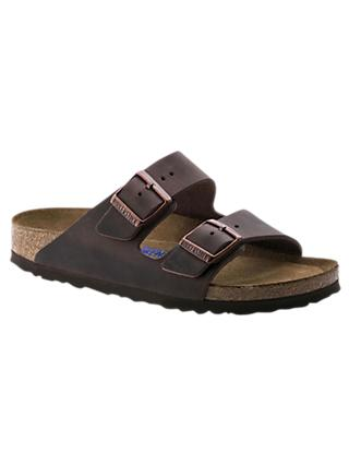 Birkenstock Arizona Double Strap Leather Sandals, Brown