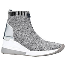 Buy MICHAEL Michael Kors Skyler Slip On Trainers, Grey Online at johnlewis.com