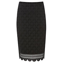 Buy Mint Velvet Deco Lace Skirt, Black Online at johnlewis.com