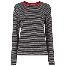 Buy Whistles Contrast Stripe Long Sleeve T-shirt, Multi Online at johnlewis.com