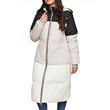 Buy Miss Selfridge Oversized Colour Block Maxi Puffer Jacket, Multi Online at johnlewis.com