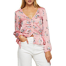 Buy Miss Selfridge Ditsy Hook Eye Blouse, Multi Online at johnlewis.com