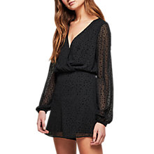 Buy Miss Selfridge Star Chiffon Playsuit, Black Online at johnlewis.com