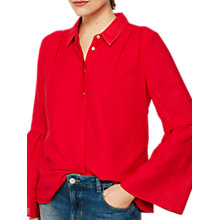 Buy Mint Velvet Stripe Burnout Cotton Shirt, Red Online at johnlewis.com