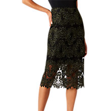 Buy Coast Layla Lace Pencil Skirt, Black Online at johnlewis.com