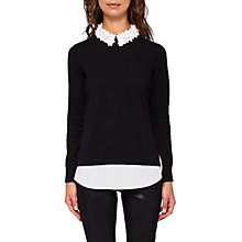 Buy Ted Baker Nansea Floral Collar Jumper Online at johnlewis.com
