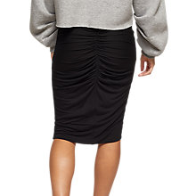 Buy Miss Selfridge Ruch Back Pencil Skirt, Black Online at johnlewis.com