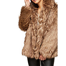 Buy Miss Selfridge Faux Fur Coat, Beige Online at johnlewis.com