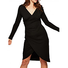 Buy Miss Selfridge Wrap Dress, Black Online at johnlewis.com
