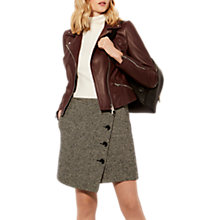 Buy Karen Millen Bold Tweed Skirt, Black Online at johnlewis.com