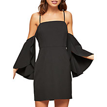 Buy Miss Selfridge Petite Bardot Dress, Black Online at johnlewis.com