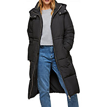 Buy Miss Selfridge Oversized Maxi Puffer Jacket, Black Online at johnlewis.com