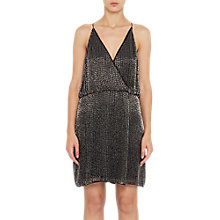 Buy French Connection Enid Shimmer Strappy V-Neck Dress, Black/Gunmetal Online at johnlewis.com