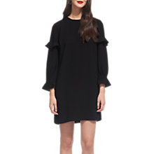 Buy Whistles Elizabeth Frill Sleeve Dress, Black Online at johnlewis.com