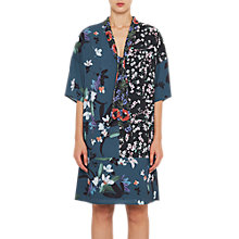 Buy French Connection Celia Mix Tie Neck Dress, Deep Teal/Multi Online at johnlewis.com