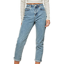Buy Miss Selfridge Petite Mom Jeans, Blue Online at johnlewis.com