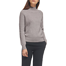 Buy Whistles Rib Polo Neck Jumper, Grey Marl Online at johnlewis.com