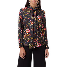 Buy Finery Opal Lotus Flower Print Tie Neck Blouse, Multi Online at johnlewis.com