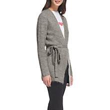 Buy Whistles Mohair Blend Belted Cardigan, Grey Marl Online at johnlewis.com