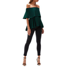 Buy Coast Brooke Bardot Top, Forest Online at johnlewis.com