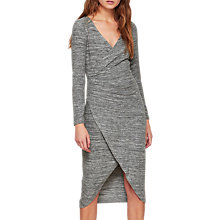 Buy Miss Selfridge Wrap Midi Dress, Grey Online at johnlewis.com