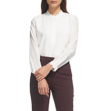 Buy Whistles Dana Scalloped Edge Blouse, Ivory Online at johnlewis.com
