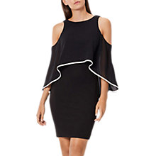 Buy Coast Sarah Tipped Cold Shoulder Dress, Black/White Online at johnlewis.com