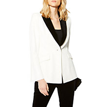 Buy Karen Millen Tuxedo Collection Tailored Blazer, Ivory Online at johnlewis.com