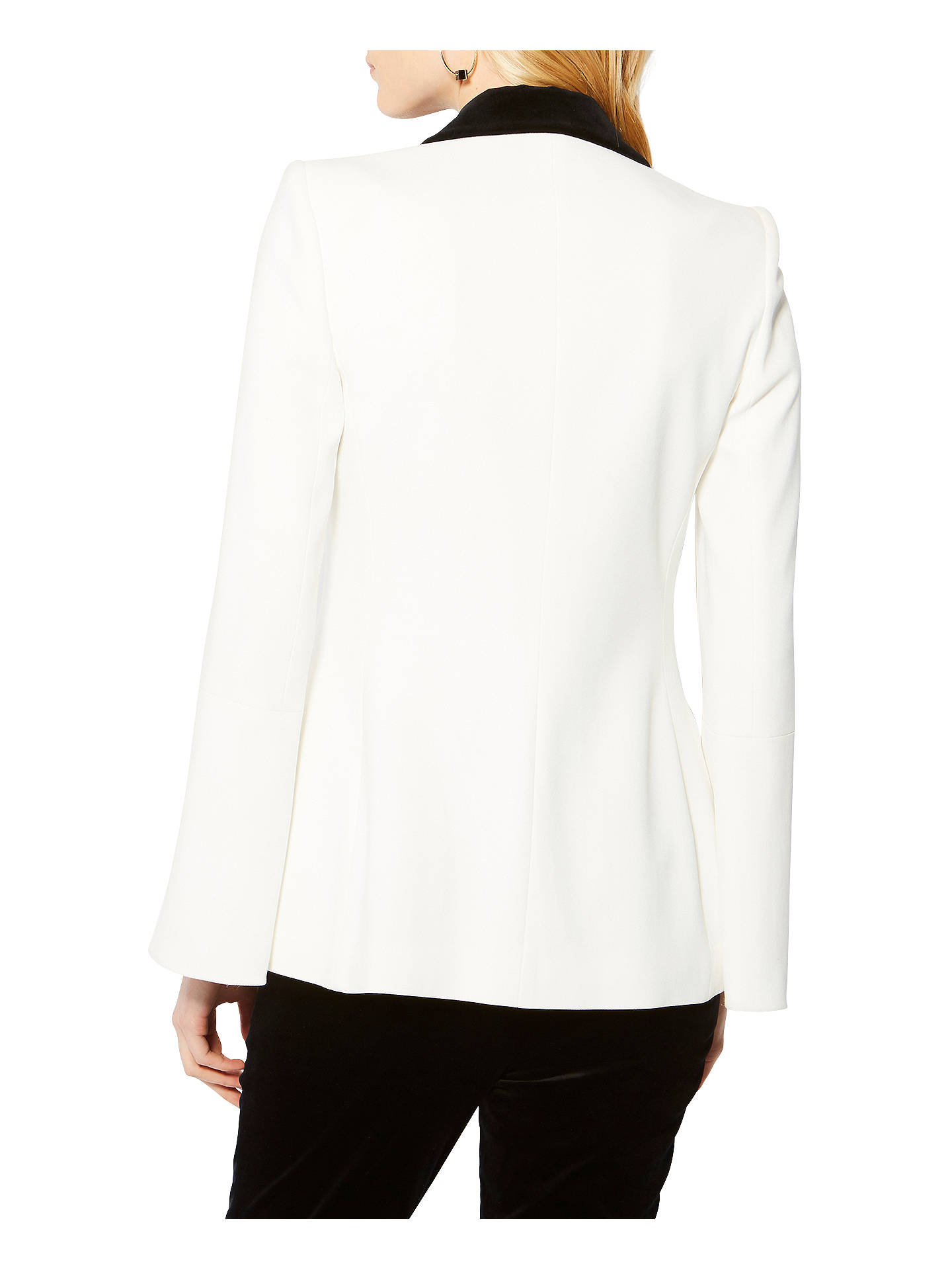 Buy Karen Millen Tuxedo Collection Tailored Blazer, Ivory, 6 Online at johnlewis.com