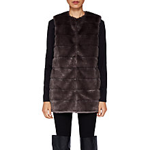 Buy Ted Baker Fiorela Faux Fur Gilet, Light Grey Online at johnlewis.com
