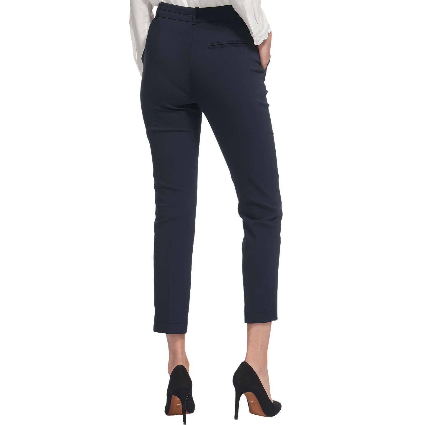 BuyWhistles Sadie 2 Slim Leg Trousers, Navy, 6 Online at johnlewis.com