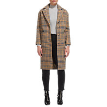 Buy Whistles Heritage Check Coat, Multi Online at johnlewis.com